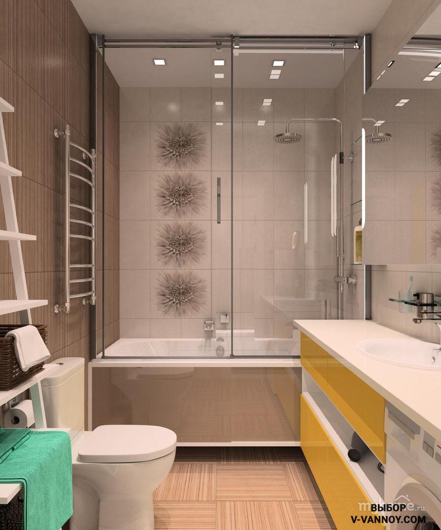 Совмещенная ванная комната дизайн 15 на 15