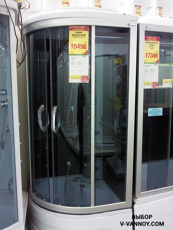 Альтро, габариты: 90х90 см, цена: 375 $ (кабина с функцией гидромассажа).