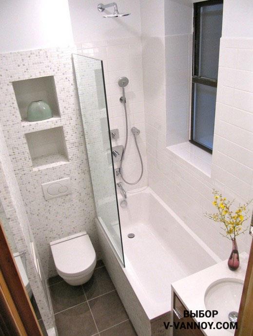 Грамотная планировка ванной, совмещенной с туалетом.