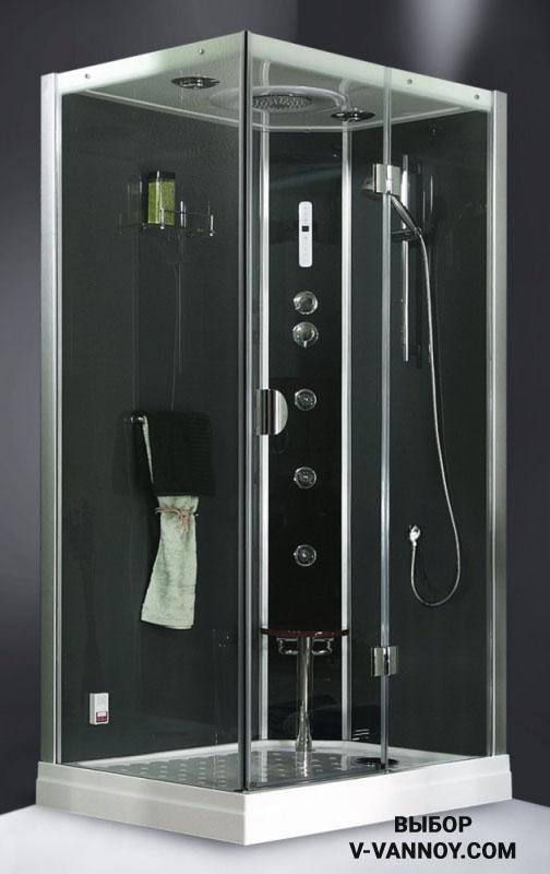 Модель Роуз с гидромассажем (90х90х215 см), 280 $.