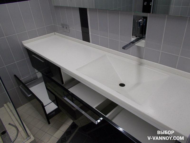 Мебель для просторной ванной.