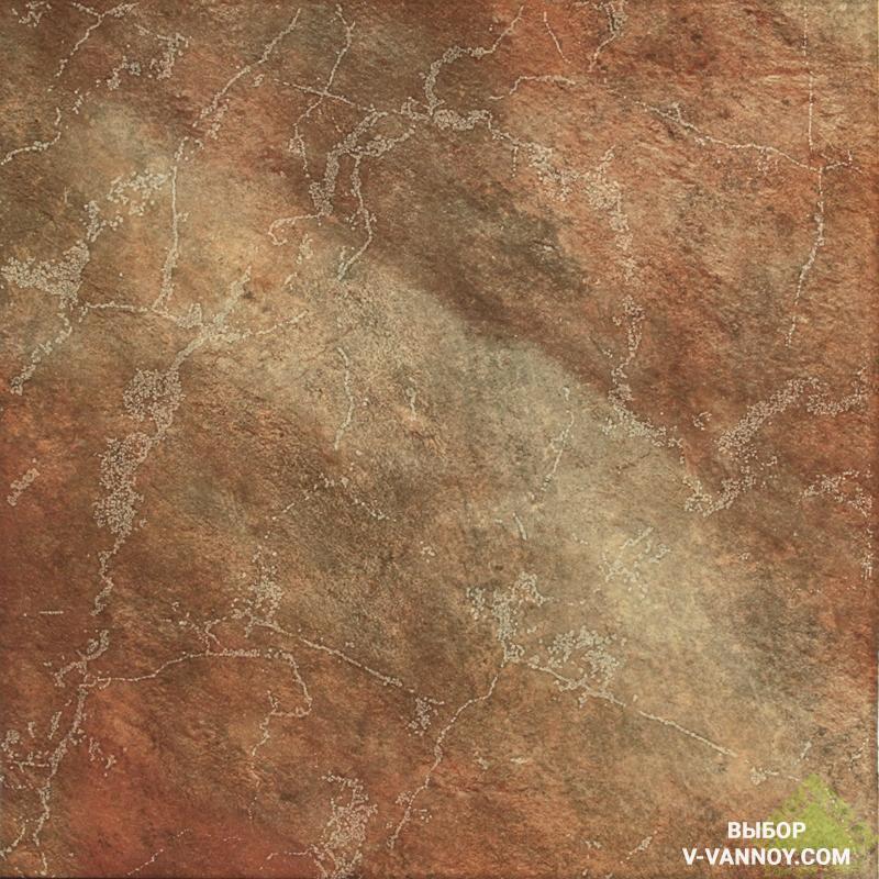 Плитка на пол от Леруа Мерлен (450х450). Lleida Marron (Navarti, Россия).