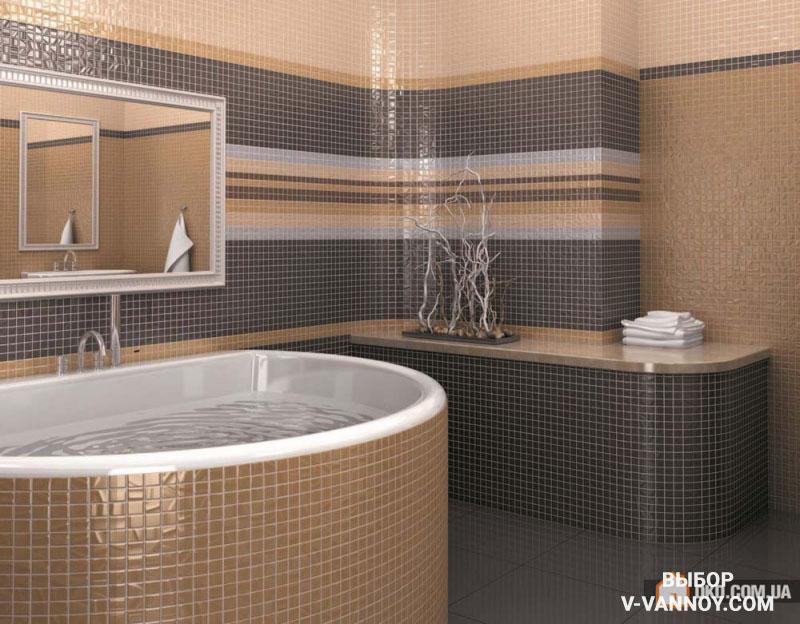 Плитка мозаика в ванной. 35 идей дизайна