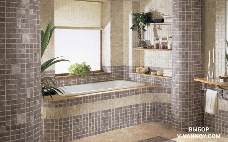 Натуральный камень в дизайне ванной комнаты.