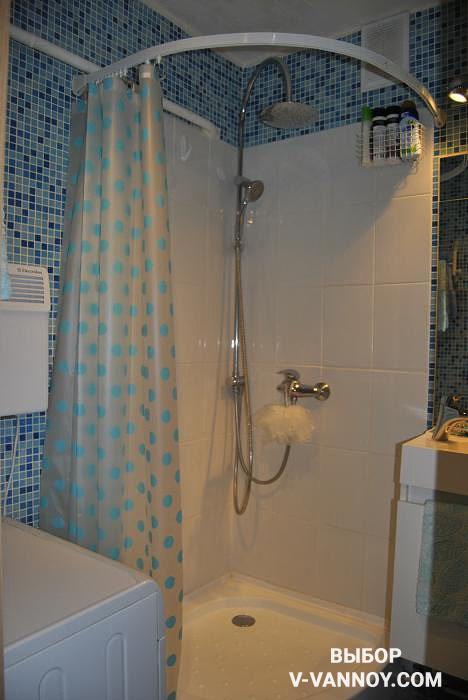 Акриловый поддон для душевого уголка в ванной комнате, 1/4 круга (130 $).