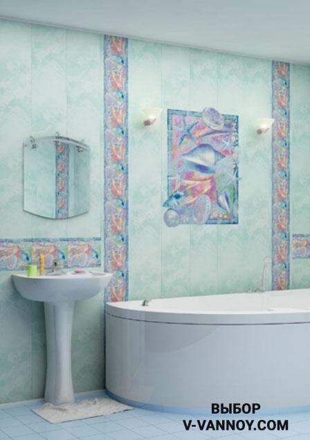 Пастельные цвета поливинилхлорида с декоративными вставками фотопечати.