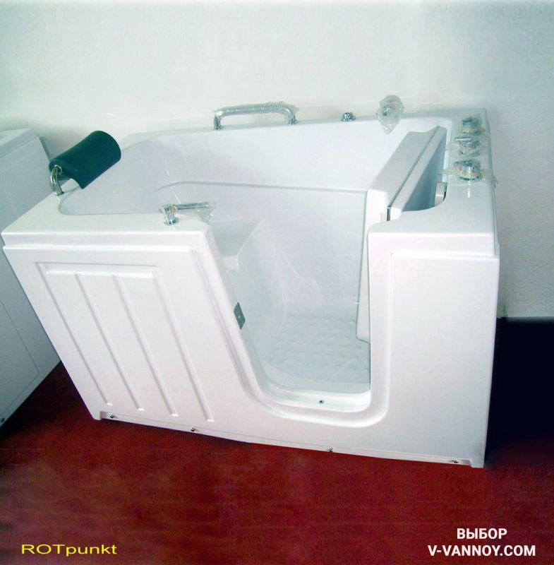 Сидячая ванна (120х70). Предназначение устройства: для принятия профилактических и лечебных процедур инвалидами, а также людьми пожилого возраста.