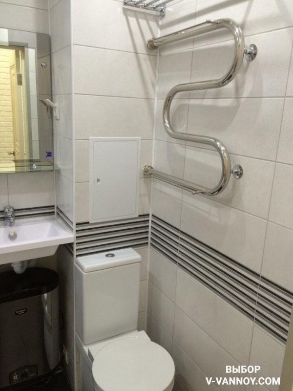 Ремонт маленькой ванной комнаты. 40 идей интерьера