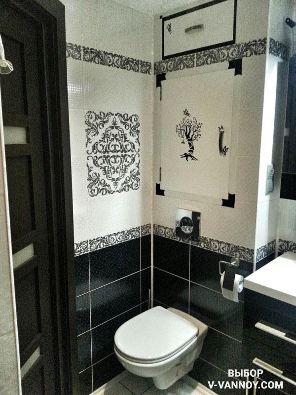 Стиль Арт-деко в интерьере малогабаритной ванной.