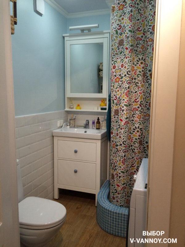 Ремонт маленькой комнаты в хрущевке. Компактная расстановка мебели и сантехники на 4 кв. м.