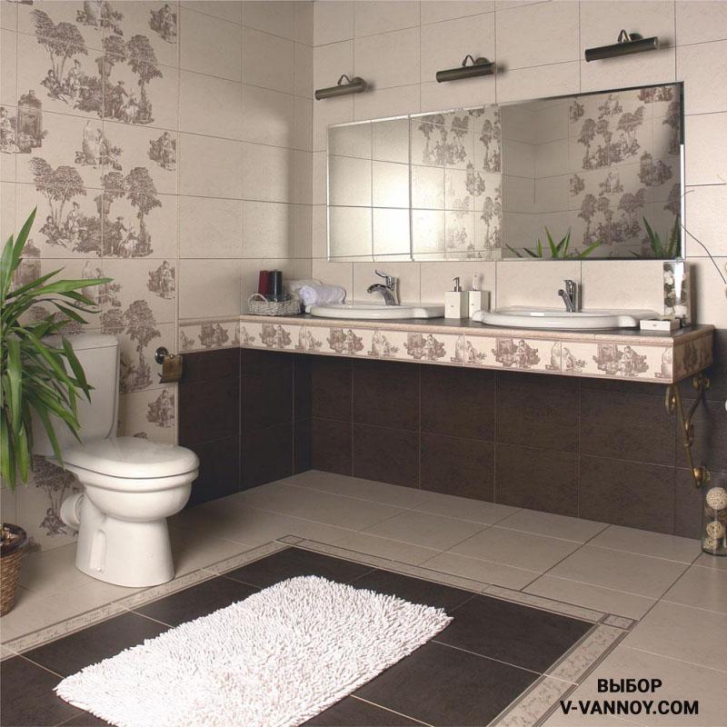 Как смотрится плитка Керамин в ванной? 20 интерьеров