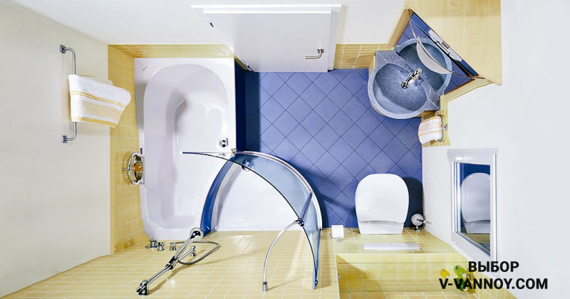 20 вариантов сидячих ванн для санузлов 2-4 кв. м