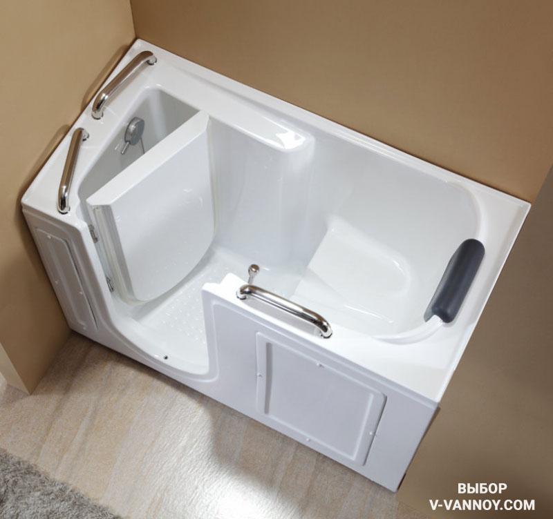 Ванна для инвалидов горизонтальная (дверь справа), Q373R.
