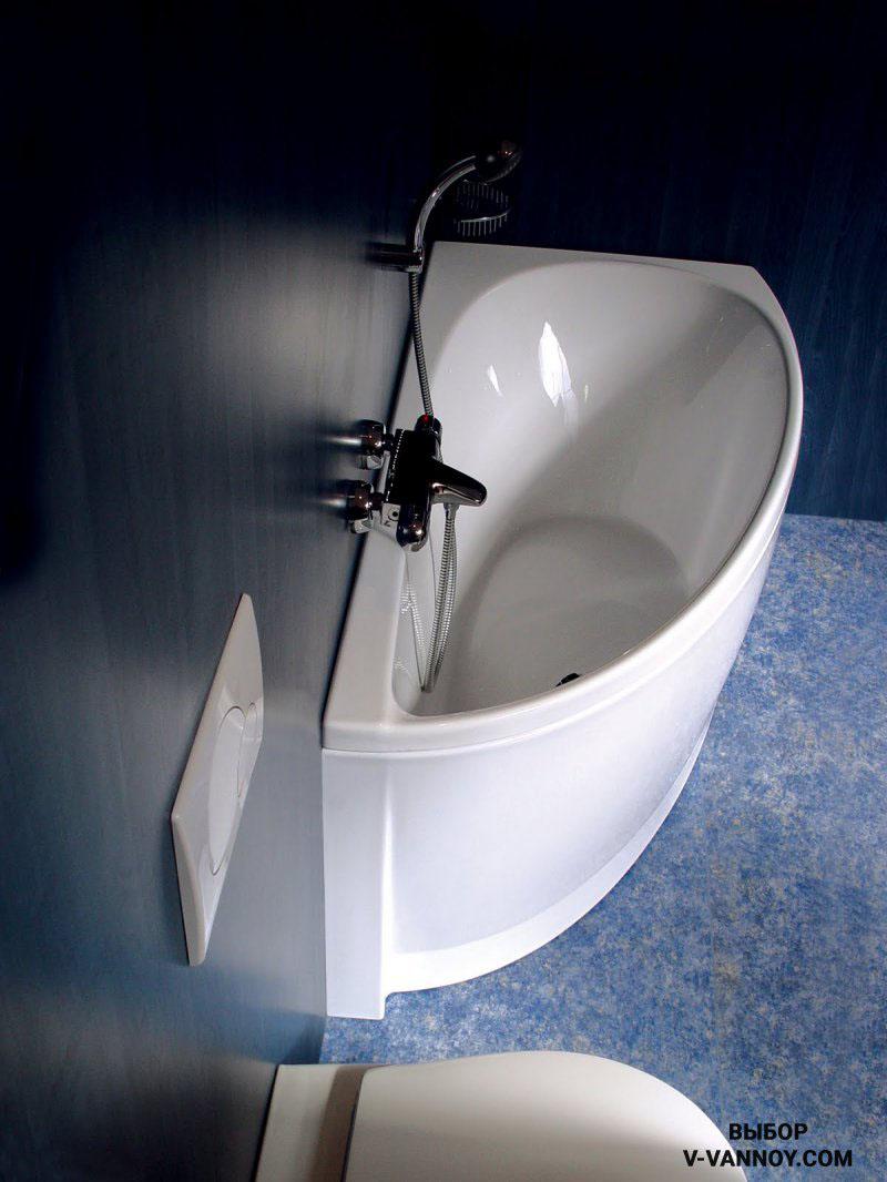 Модель Avocado в стиле тропического минимализма 160/150х75 см (Ravak, Чехия). Объем: 158 л. Такой дизайн отлично подходит для установки в маленьких помещениях. В данной серии также представлен умывальник, мебель и специальные смесители.