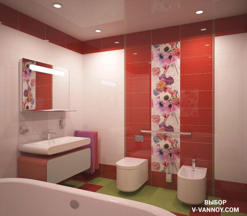Anemonas. Производитель: Ceradim (Россия). Состав: напольный и настенный кафель, декор, панно, бордюры. Цветовая палитра: красный, зеленый, черный, белый, мультиколор, фиолетовый, розовый. Тип поверхности: гладкая, глянцевая. Линейка размеров: 25х45, 25х45х9, 33х33, 75х45.