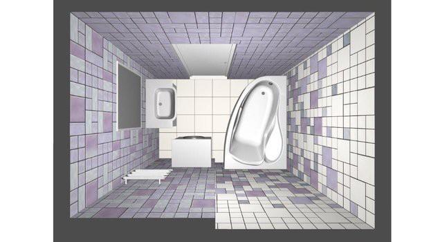 Ванная 3,4 кв.м. в новостройке с ремонтом за 2500 долларов