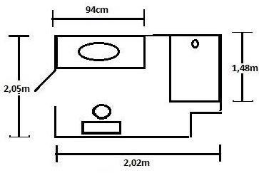 Совмещенная ванна 4 кв.м с бежевой плиткой и окном за 3500 долларов