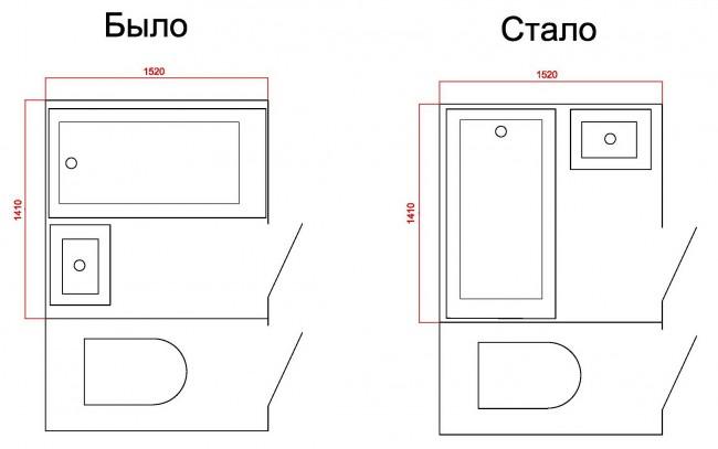 Площадь ванной комнаты в хрущевке
