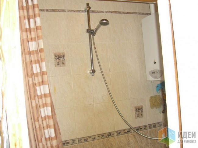 Ремонт совмещенной ванной 2.25х1.75 со светлой плиткой