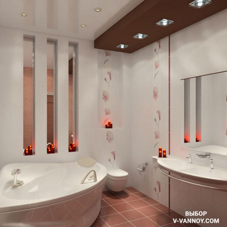 Дизайн ванной маленькой комнаты - 80 фото идей 2018 34